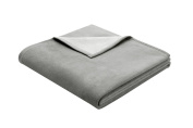 Bocasa Biederlack 150 x 200 cm Exquisite Cotton Blanket Throw, Grey