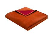 Bocasa Biederlack 150 x 200 cm Exquisite Cotton Blanket Throw, Terra Orange