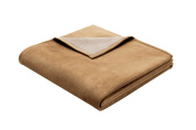 Bocasa Biederlack 150 x 200 cm Exquisite Cotton Blanket Throw, Camel Brown