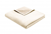Bocasa Biederlack 150 x 200 cm Exquisite Cotton Natural Blanket Throw, Beige