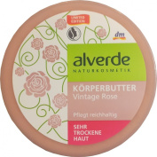 Alverde Vintage Rose Body Butter with Organic Ingredients (Limited Edition)- Certified Natural, Vegan , Not Tested on Animals - 200ml