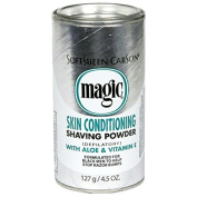 "SoftSheen Carson Magic Shaving Powder ""Silver"" Skin Conditioning With Aloe & Vitamin E 142g"