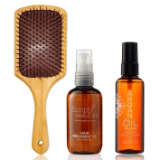 Gifts Of Morocco Luxury Argan Oil Set - Argan Oil 100ml | Argan Body Oil 100ml | Argan Infused Paddle Brush