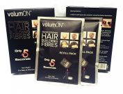 Volumon Professional Hair Building Fibres- Hair Loss Concealer- Refill Box Pack 22g x 2- Amazing New Concept to Save Money, Dont Throw Away Your Old Container, Volumon Works With ALL Brands- CHOOSE FROM 8 COLOUR SHADES- TWIN PACK- MASSIVE VALUE- 44g To ..