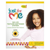 "Just For Me No-Lye Texture Softener System ""Loosen Natural Hair Textures"" New Look"
