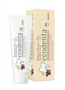 Ecological BLACK CURRANT AROMA TOOTHPASTE ECODENTA 75 ml (97% natural) for children with camomile extract and Kalident