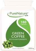 180 Pure Green Coffee Bean Extract Premium Quality Maximum Strength 15000mg Daily & 50% GCA as Recommended by Dr Oz and Over 6 Times Stronger than Other Brands Suitable for Vegetarians FREE UK Delivery