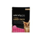 Celebrity Slim Cafe Latte Handy Packs containing 7 Celebrity Slim Replacement Shake sachets