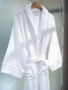Hotel and Spa Quality Luxury Towelling Bathrobe 500gms 100% Cotton - White
