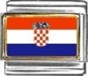 Croatia Flag - enamel charm - 9mm Italian charm will fit Nomination classic bracelet