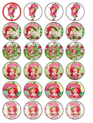 24 x Strawberry Shortcake (#2) Cupcake Cake Toppers