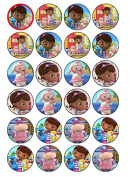 24 Doc McStuffins (#2) Cupcake Cake Toppers