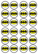 Batman #2 Edible Wafer Rice Paper 24 x 4.5cm Cupcake Toppers/Decorations