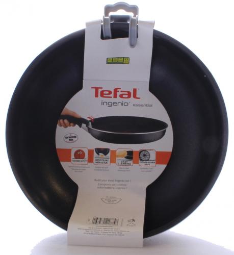 tefal 26 cm ingenio essential wok black free shipping ebay. Black Bedroom Furniture Sets. Home Design Ideas