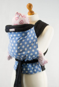 Palm and Pond Pale Blue Mei Tai Baby Sling with White Polka Dots
