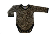 BabywearUK Leopard print Envelope neck LONG sleeved body vest - 12/18months