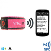 Child Identity ID Safety Wristband. Smart Phone Electronic Option. Store Lost Contact Info, Childrens Allergy, Medication Info. Updateable. Waterproof. Adjustable. Kids Bracelet. Vital Diabetes, Epilepsy, Holiday, Hotel, Asthma, Parents
