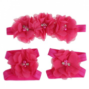 Malloom® Colourful Flower Headband Set for Baby Girls