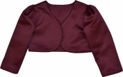 Girls Wine Long Sleeve Bolero Jacket 6-12 MONTHS - 9-10 YEAR