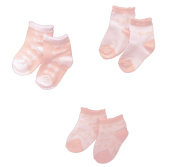 Baby Girls Cute Socks 3 Pairs - Pink & White Bows Design