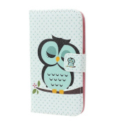 Amonfineshop(TM) Sleeping Owl Flip Leather Cover Case For Samsung Galaxy S3 III i9300