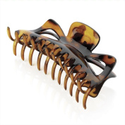 Amber Jewellery Large Hair Claw Clip Clamp Hair Accessory - 14cm Brown HA28179