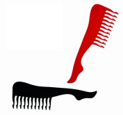 Novelty Sexy Leg Shaped Hair Comb Naughty Joke Fun Funny Cheeky Gift Present