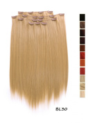 Prettyland K170 -7 piece Clip-In Straight Extensions Set 50cm 20 inch - BL30 light nut blond