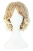 MapofBeauty Beautiful Blonde Short Curly Wig