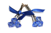 6 x Sapphire Blue Crystal Wedding Bridal Hair Pins Made With. ELEMENTS