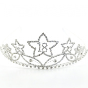 Large Crystal/Diamante 18th Birthday Tiara - Star Design