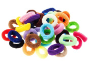 42 Multi Colour Gentle Terry Hair Bobbles Elastics Bands Styling Styles By VAGA®