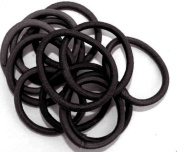 12 Black Plain Endless Hair Elastic/Bands IN6026