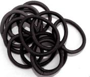 12 Black Plain Endless Hair Elastic/Bands IN6026