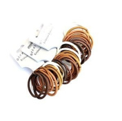 36 X Brown Endless Hair Elastics/ Bobbles - Snag Free