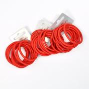 30 x Red Endless Hair Elastics/ Bobbles - Snag Free