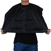 Black Short Salon Hairdressing Hair Cutting Gown Barber Cape Cloth