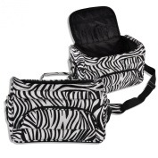 Professional Barber Hair Tools Hairdressing Salon Zebra Portable Tool Case Bag
