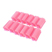 Anself Magic Sponge Foam Cushion Hair Styling Rollers Curlers Twist Tool Salon Pink 12pcs