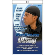WAVE BUILDER Du-Rag with Extra Long Tails BLACK (Model