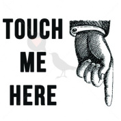 Touch Me Here - Temporary Tattoo by TempTatz