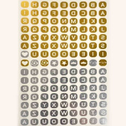 Metalic Gold / Silver Temporary Tattoos, Shimmer Tattoo, Alphabet