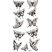 Watertight and sweat fake tattoos sexy black butterfly