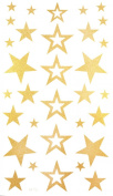 "Spestyle the best temporary tattoos product dimension (17*9.5cm) 6.69""""x3.74"" stars Gold golden fake temporary tattoo stickers"