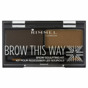 Rimmel Eyebrow Kit, Dark Brown