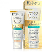 EVELINE Cosmetics Diamond and Gold Moisturising and Iluminating CC Cream 8 in 1 Light Skin 30ml