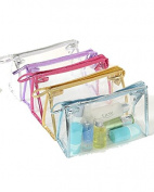 SAMGU PVC Transparent Plastic Travel Cosmetic Zipper Make Up Toiletry Bag