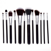 12 Pcs Foundation Brush Face Eyes Makeup Tool Set Kit Cosmetics Brushes