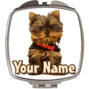 Personalised Yorkshire Terrier Puppy Compact Mirror