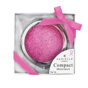 Danielle Creations Pink Ribbon Foundation Glitter Compact, Pink Blush 7 cm